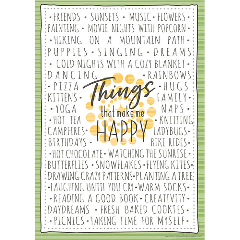 """A Close-Knit Class Things That Make Me Happy Poster 13"""" x 19"""""""