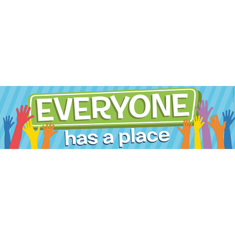 A Teachable Town Everyone Has A Place Horizontal Banner