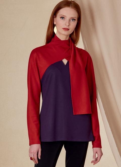 Vogue Patterns V1825   Misses' and Misses' Petite Top