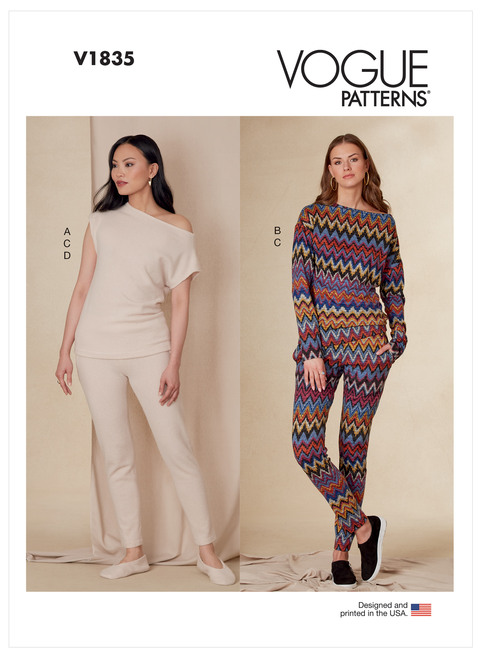 Vogue Patterns V1835 | Misses' Tops, Pants and Slippers