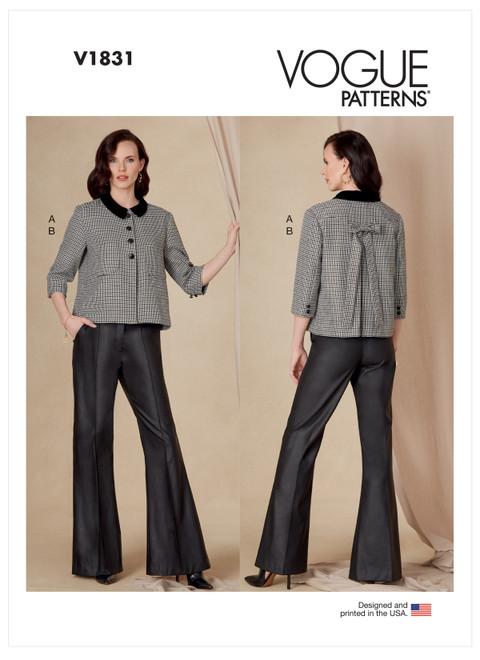 Vogue Patterns V1831 | Misses' and Misses' Petite Jacket and Pants