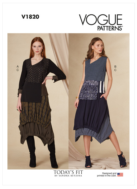 Vogue Patterns V1820 | Misses' Top and Skirt