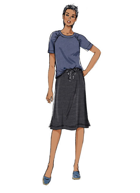 Butterick B6859 | Misses' Knit Dress, Tops, Skirt and Pants