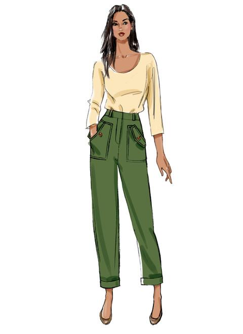 Butterick B6864 | Misses' Pants and Sash