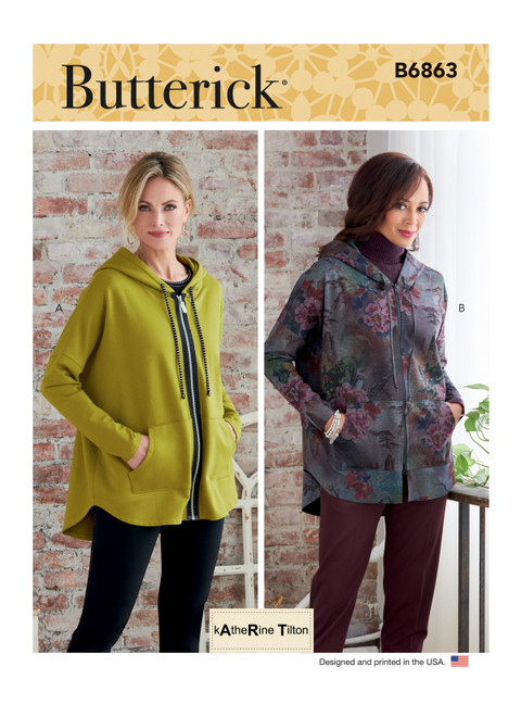 Butterick B6863 (Digital)   Misses' Jacket