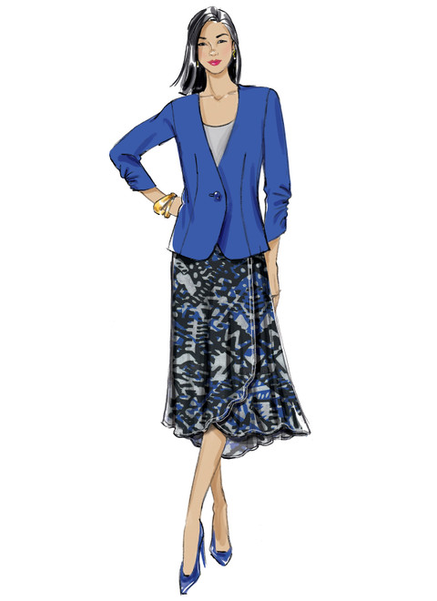 Butterick B6860 | Misses' and Women's Jacket, Skirt and Pants