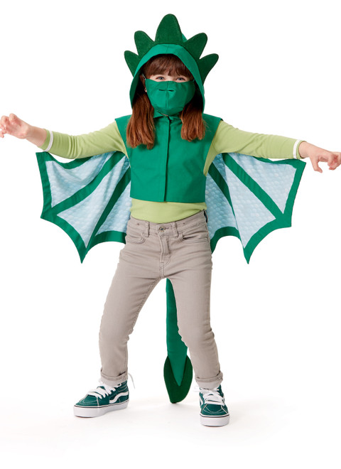 McCall's M8225   Kids' Dragon Cape and Mask