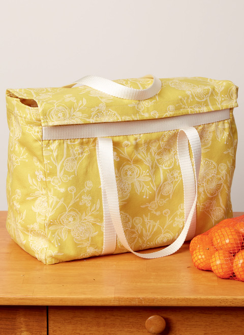 McCall's M8236 | Fruit and Vegetable Bags, Mop Pad, Coffee Filters, Bin and Bag