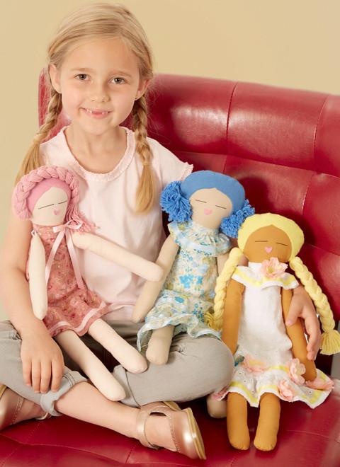 "McCall's M8235 | 18"" Cloth Dolls"