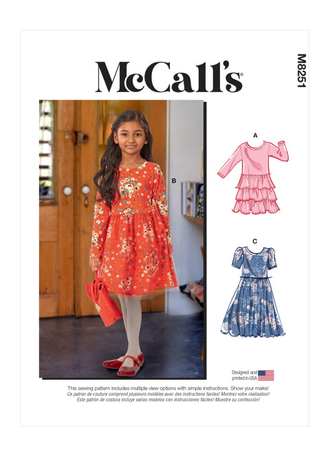 McCall's M8251   Children's and Girls' Dresses