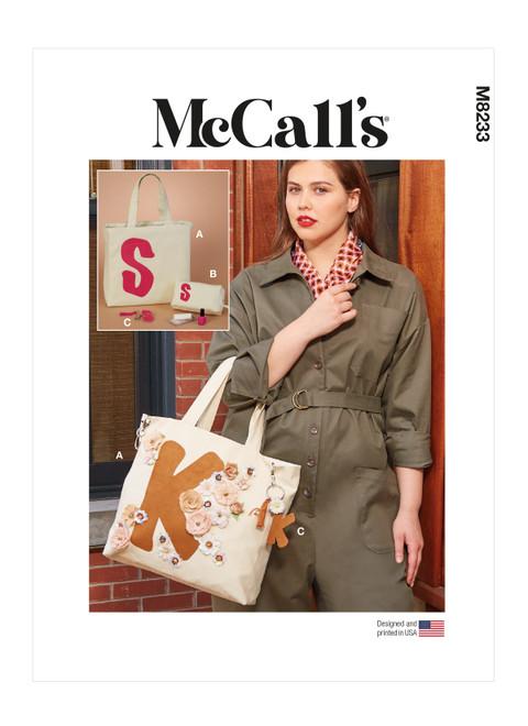McCall's M8233 (Digital) | Tote, Zipper Case and Key Ring