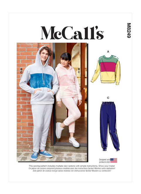 McCall's M8249 | Unisex Tops and Pants