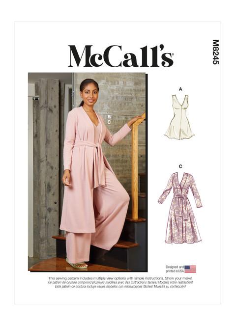 McCall's M8245 (Digital) | Misses' Romper, Jumpsuit, Robe and Sash