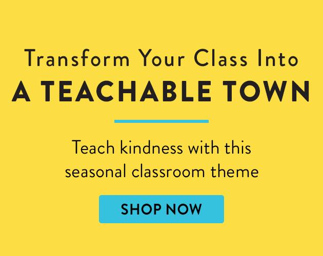 Transform your class into a teachable town. Teach kindess with this seasonal classroom theme. Shop Now