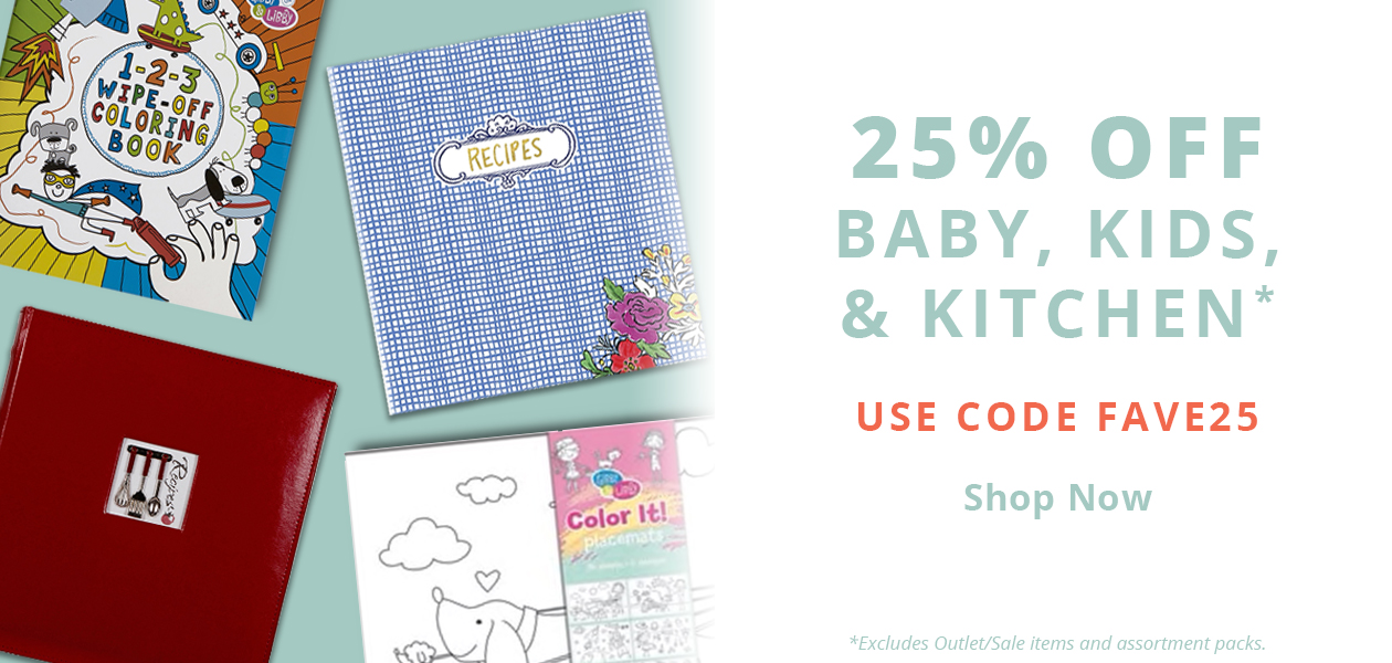 25% Off C.R. Gibson Baby, Kids, & Kitchen Products - Use code FAVE25