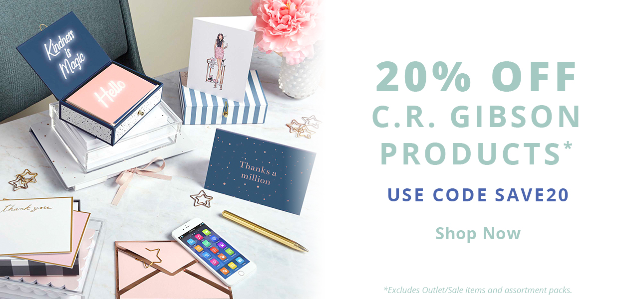 20% Off C.R. Gibson Products - Use code SAVE20