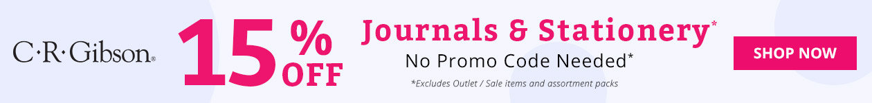 15% Off Journals & Stationery*