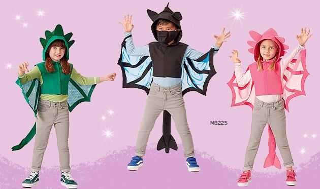 Shop Kids' Dragon Cape and Mask Patterns