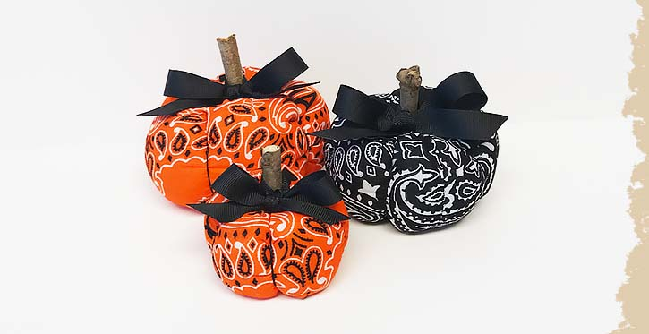 Fabric Pumpkins with Offray Ribbon