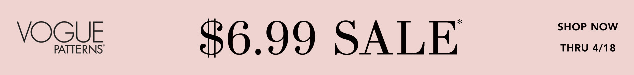 Vogue Patterns $6.99 Sale*