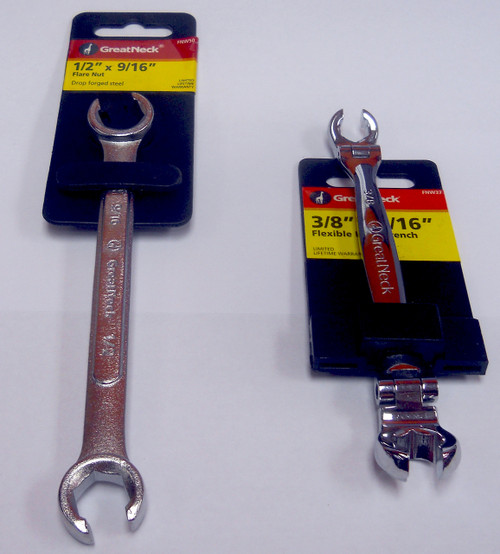 GREAT NECK 2 PIECE FLARE NUT WRENCH SET (SAE) - FN02