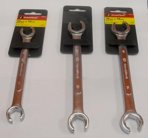 GREAT NECK 3 Piece Flare Nut Wrench w/Flex Set (Metric) - FNM3