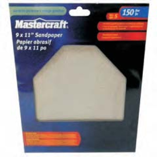 MASTERCRAFT 5-Pack Wet/Dry General Purpose Sandpaper 150 Grit - 54-2153-6