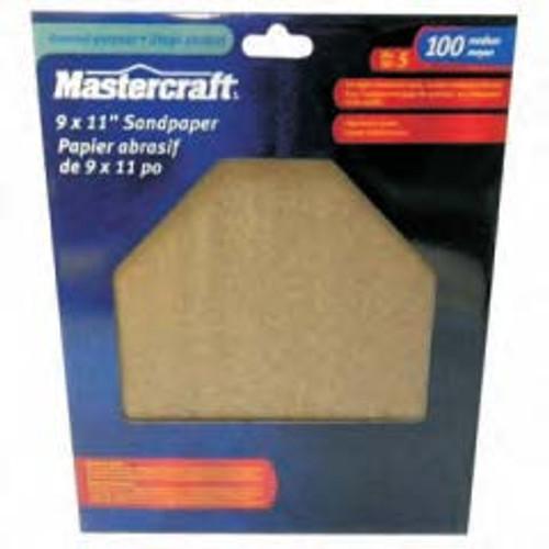 MASTERCRAFT 5-Pack Wet/Dry General Purpose Sandpaper 100 Grit Medium - 54-2154-4