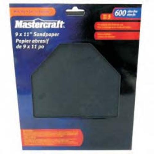 MASTERCRAFT 5-Pack Wet/Dry General Purpose 600 Super Fine - 54-2171-2