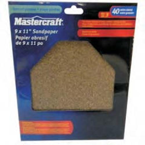 MASTERCRAFT 3-Pack Wet/Dry General Purpose Sandpaper Extra Coarse 40 Grit - 54-2282-8