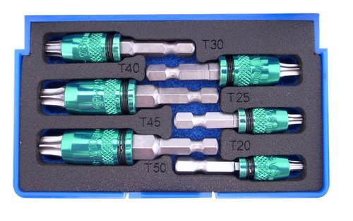 6 Piece, 2-in-1 Internal Torx & External Metric Hex Bit Set - Metric - 1038