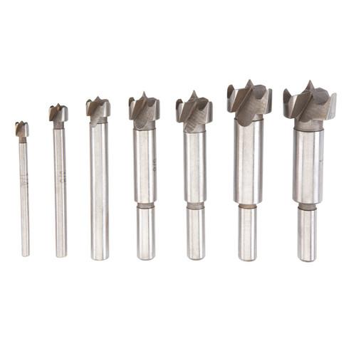 1/4 in. - 1 in. Forstner Drill Bit Set With 3/8 in. Shanks 7 Pc - 7287
