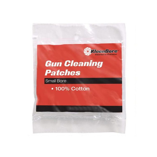 "KleenBore Cotton Cleaning Patches for .38 to .45 Caliber Handugns and .410 to 20 Gauge Shotguns, 2-1/4"" 50 Patches - P-203"