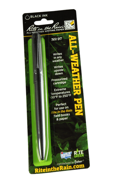 Rite in the Rain 97 All-Weather Tactical Clicker Pen, Black Ink