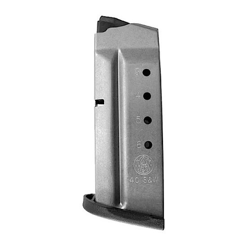Smith & Wesson 40SW 6 Round Stainless Magazine - 19933