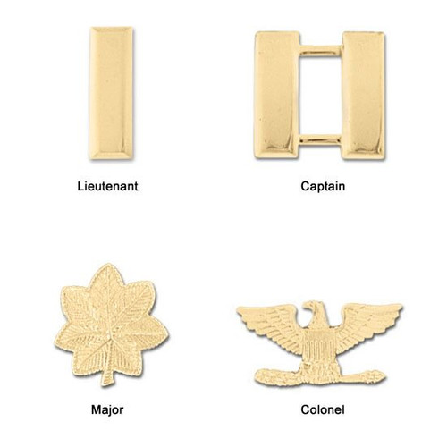 Premier Emblem Plated Miniature Rank Insignia - Clutch Back