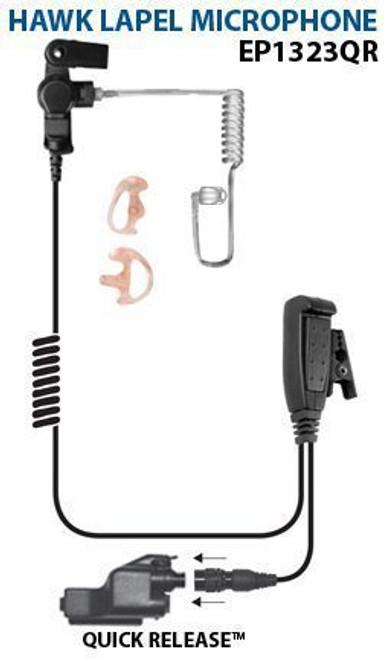 Ear Phone Connection Hawk Lapel Microphone - EP1323QR