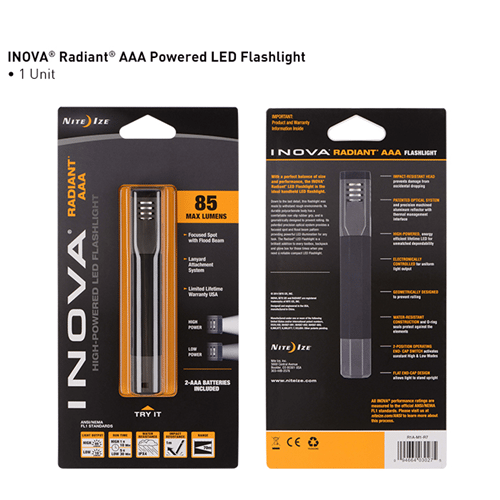 Nite-Ize INOVA Radiant AAA Powered LED Flashlight NIR1A-M1-R7