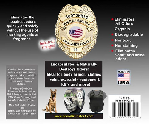 Pro Guide Gold Body Shield Odor Eliminator