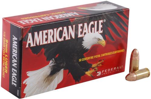 Federal 9MM 115GR American Eagle Full Metal Jacket - AE9DP