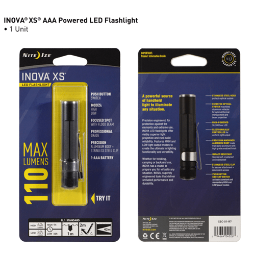 Nite-Ize INOVA XS LED Flashlight - Black NIXSC-01-R7