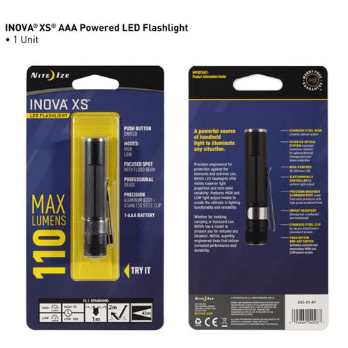 Nite-Ize INOVA XS LED Flashlight - Black NIXSC-01-R7