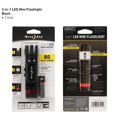 Nite-Ize 3-in-1 LED Mini Flashlight - NINL1A