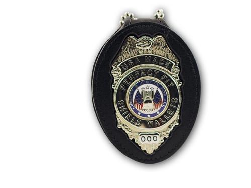 Recessed Belt Clip Badge Holder w/ Velcro Closure