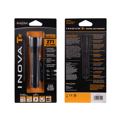 Nite-Ize INOVA T2 Flashlight - 123A Lithium - Black NIT2C-01-R7