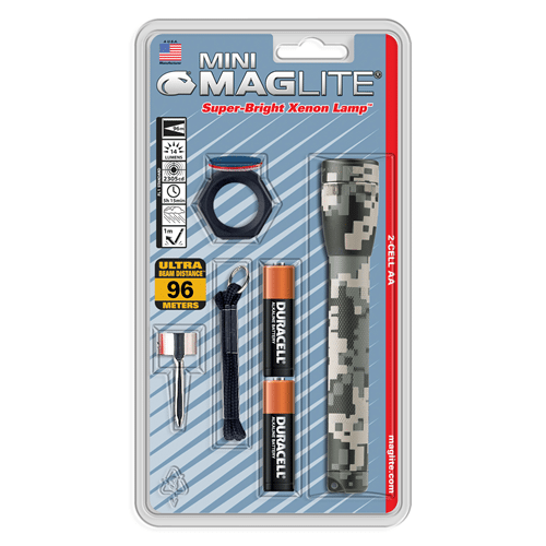 Maglite Universal Camo AA Mini-Mag Combo Pack Flashlight - M2AMRC