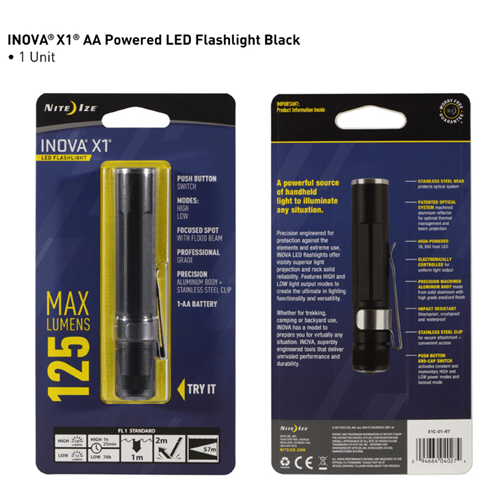 Nite-Ize INOVA X1 LED Flashlight - Black NIX1C-01-R7