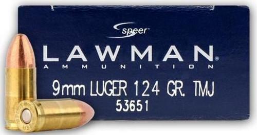 Speer 9mm 124GR TMJ Lawman - 53651