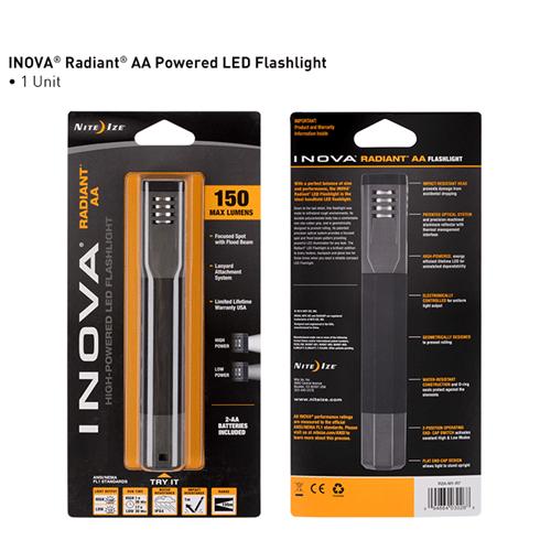 Nite-Ize INOVA Radiant AA Powered LED Flashlight NIR2A-M1-R7