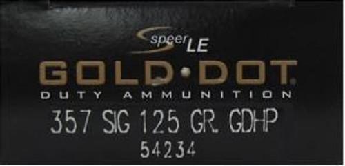 Speer .357SIG 125GR Gold Dot HP - 54234